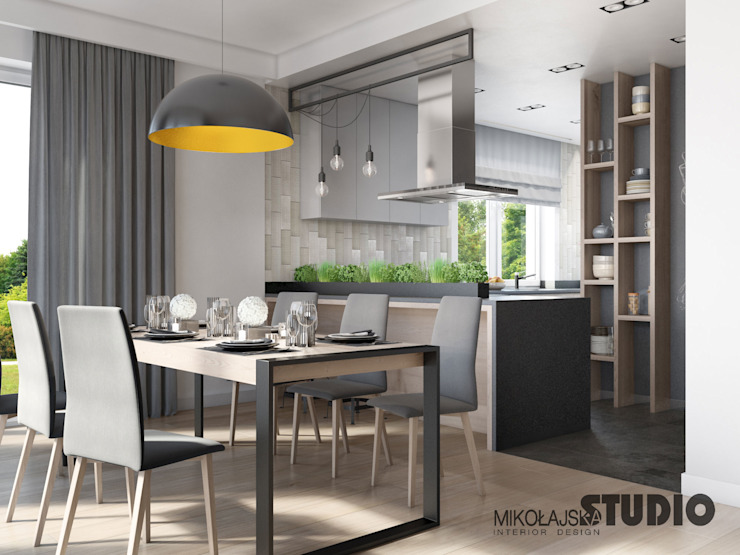 Modern dining room by MIKOŁAJSKAstudio Modern