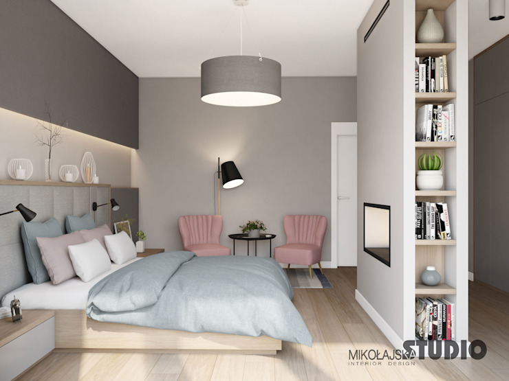 Modern Bedroom by MIKOŁAJSKAstudio Modern