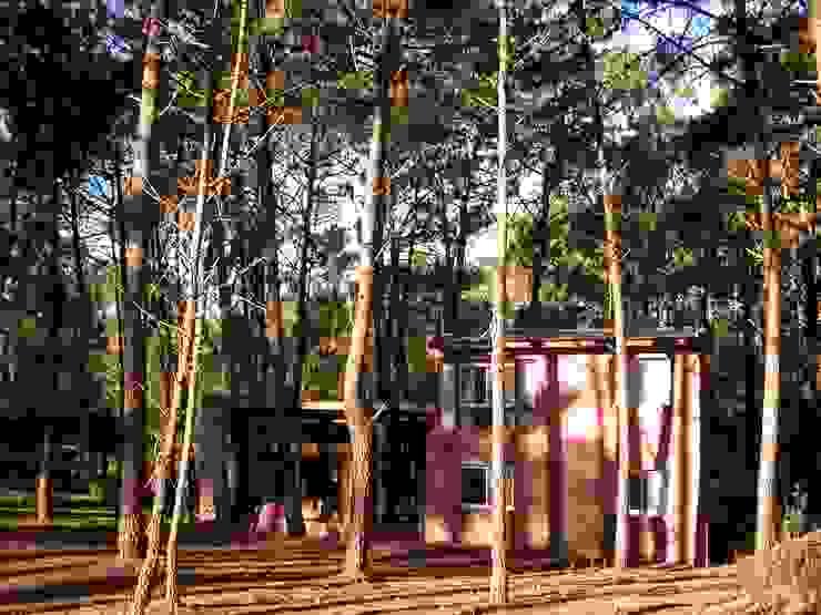 CASA EN EL BOSQUE Casas rústicas de LLACAY arquitectos Rústico Piedra