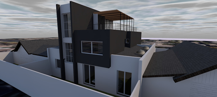 DISEÑO DE CASA EN LAS CONDES Casas de estilo mediterráneo de homify Mediterráneo