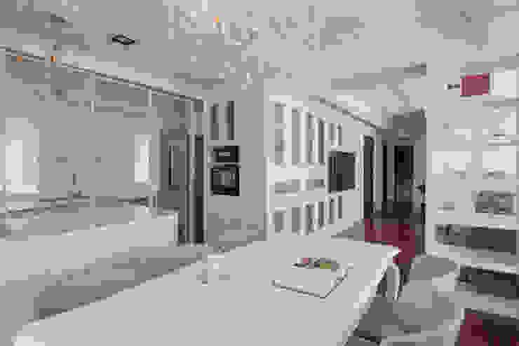 Cocinas de estilo moderno de Glocal Architecture Office (G.A.O) 吳宗憲建築師事務所/安藤國際室內裝修工程有限公司 Moderno