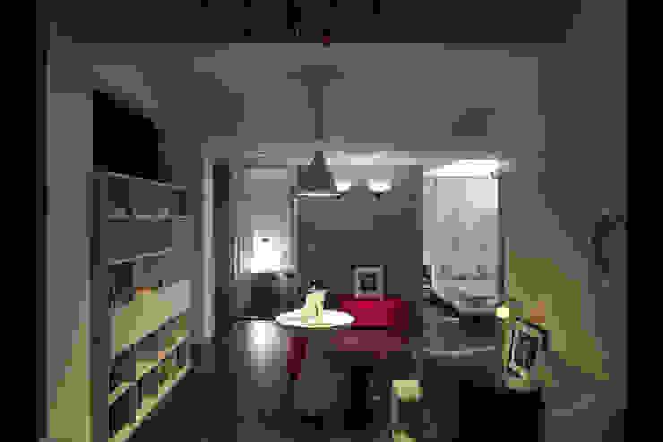 嘉義吳宅 现代客厅設計點子、靈感 & 圖片 根據 邑法室內裝修設計有限公司 現代風