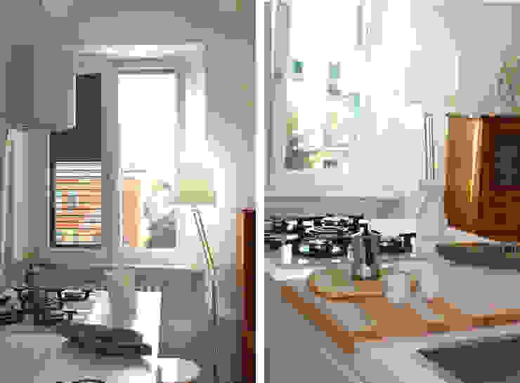 Cucina Isola Cucina moderna di Architetto Luigia Pace Moderno Legno Effetto legno