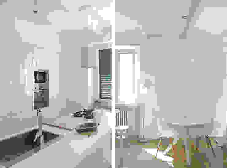 Cucina Zona Pranzo Cucina moderna di Architetto Luigia Pace Moderno Legno Effetto legno