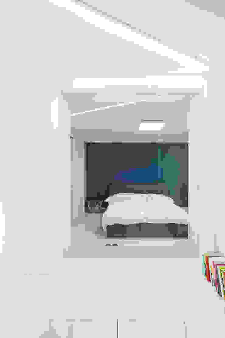 동탄 아파트 인테리어 프로젝트 모던스타일 침실 by 건축사사무소 사무소아홉칸 모던