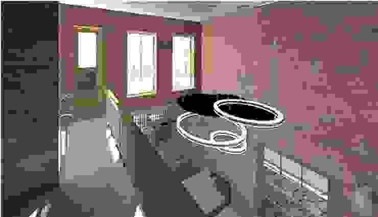 Pasillos, vestíbulos y escaleras de estilo moderno de Arquitetura Ecológica Moderno