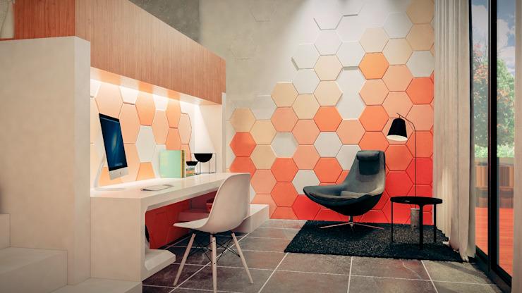 Estudio Estudios y despachos de estilo moderno de Jaime Quintero Diseño Moderno