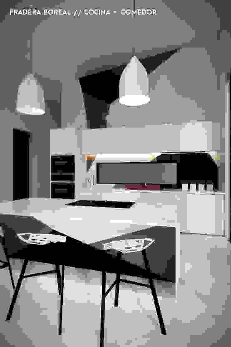 Cocina e Isla Cocinas modernas de Jaime Quintero Diseño Moderno