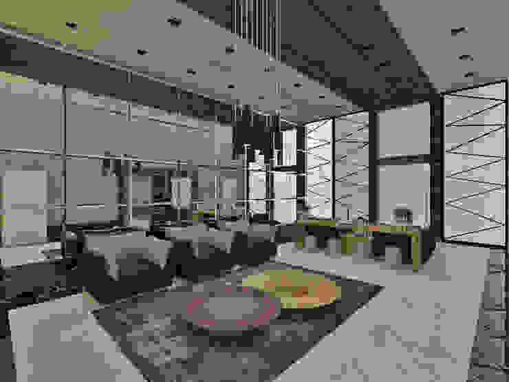 Studio Diego Duracenski Interiores 現代風玄關、走廊與階梯 木頭 Grey