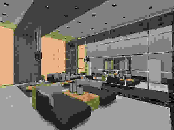 Studio Diego Duracenski Interiores 現代風玄關、走廊與階梯 實木 Metallic/Silver