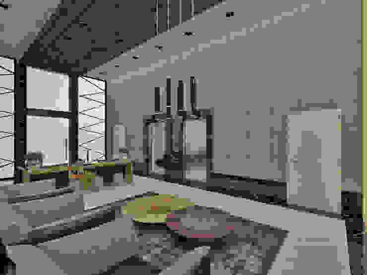 Studio Diego Duracenski Interiores 現代風玄關、走廊與階梯 大理石 Grey
