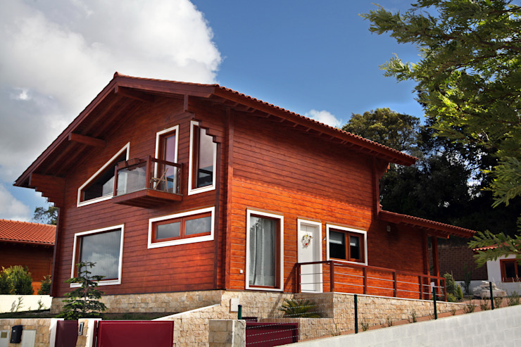 RUSTICASA Wooden houses Solid Wood Wood effect