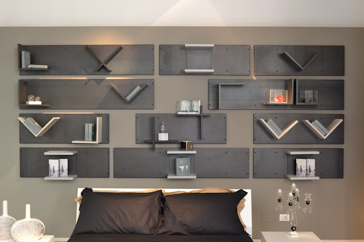 Magnetic headboard Industrial style bedroom by Ronda Design Industrial