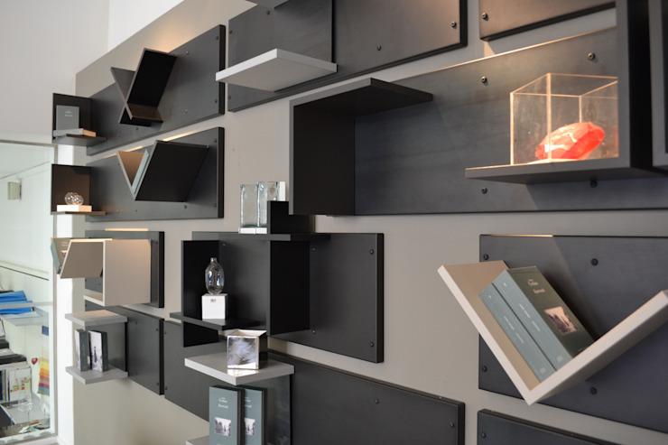 Magnetic headboard - detail Ronda Design Industrial style bedroom
