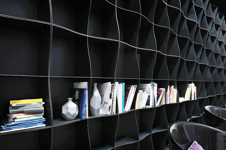 Iron-ic modular metal bookcase Ronda Design Living room