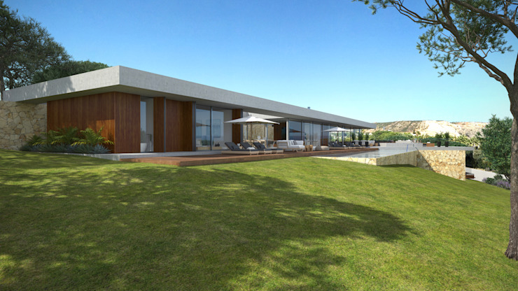 Maisons minimalistes par Areacor, Projectos e Interiores Lda Minimaliste