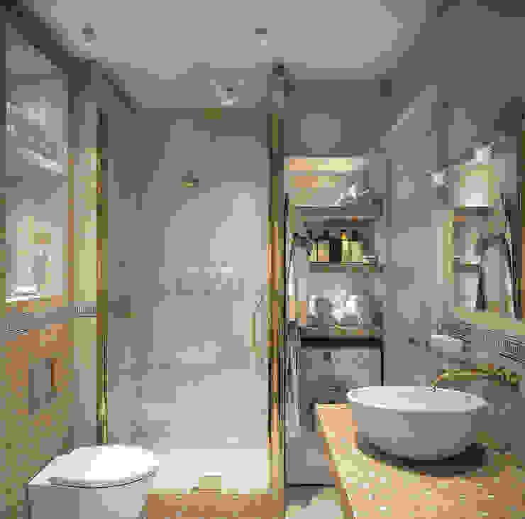 Интерьерное решение ванной комнаты Ванная в классическом стиле от dp_interior Классический Плитка
