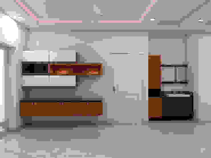 Crockery Cabinet Minimalist dining room by homify Minimalist Plywood
