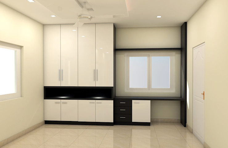 Wardrobe Minimalist bedroom by homify Minimalist Plywood