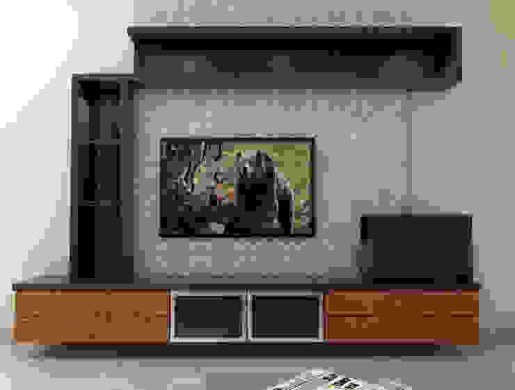 TV Unit Minimalist living room by homify Minimalist Plywood