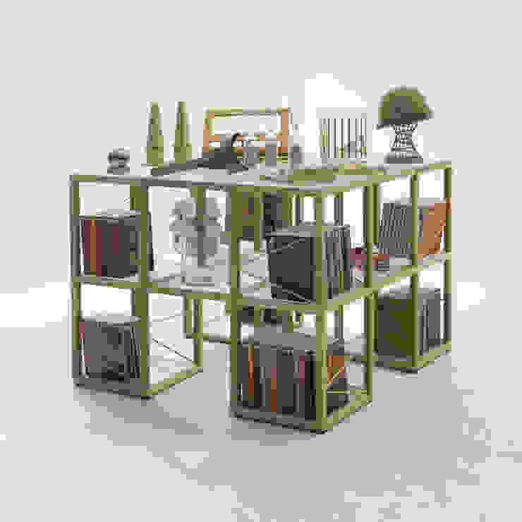Libreria componibile moderna Zia Babele I Castelli 7, design italiano di Viadurini Minimalista Legno Effetto legno
