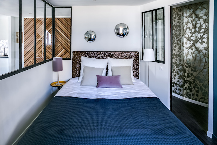 SOUS LES TOITS, BORDEAUX Chambre moderne par Audrey Boey Moderne
