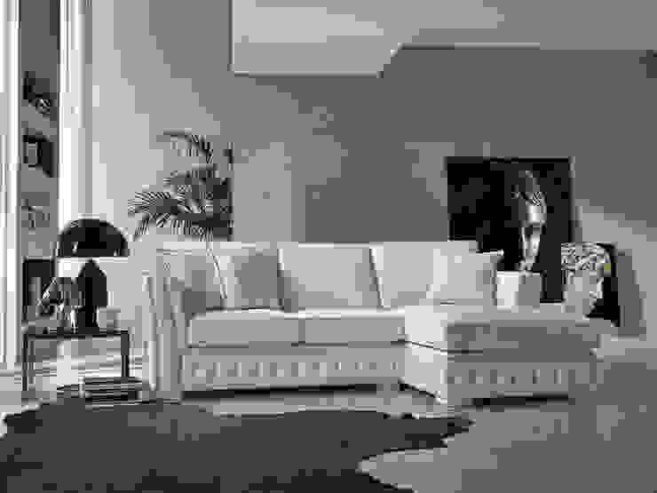 كلاسيكي  تنفيذ Viadurini, كلاسيكي جلد Grey