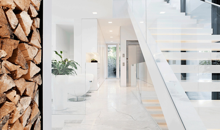 Modern Corridor, Hallway and Staircase by monovolume architecture design Modern Marble