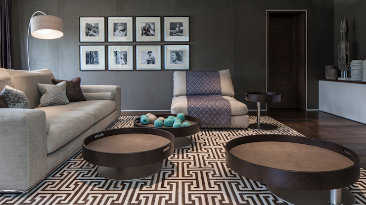 Broad Walk Cinema Room Roselind Wilson Design Salas multimedia de estilo moderno