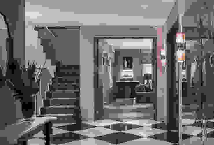 Broad Walk Hallway Roselind Wilson Design Pasillos, vestíbulos y escaleras modernos