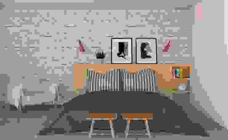 Camera da letto in stile scandinavo di Patrícia Nobre - Arquitetura de Interiores Scandinavo