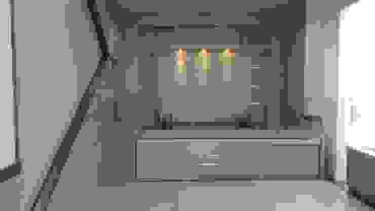 Desain interior ruangan Ruang Studi/Kantor Gaya Mediteran Oleh desainrumahterbaik Mediteran Aluminium/Seng