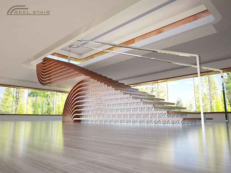 Reel Stair: modern  by TheeAe Architects, Modern
