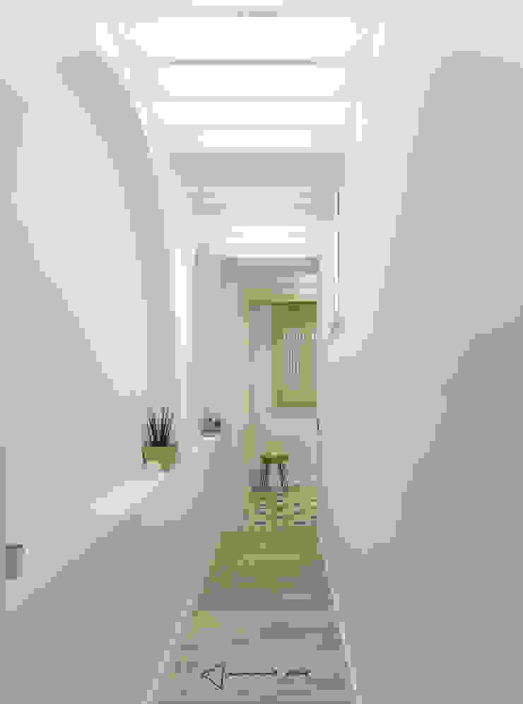 Hành lang, sảnh & cầu thang phong cách Bắc Âu bởi emmme studio Bắc Âu Gỗ Wood effect
