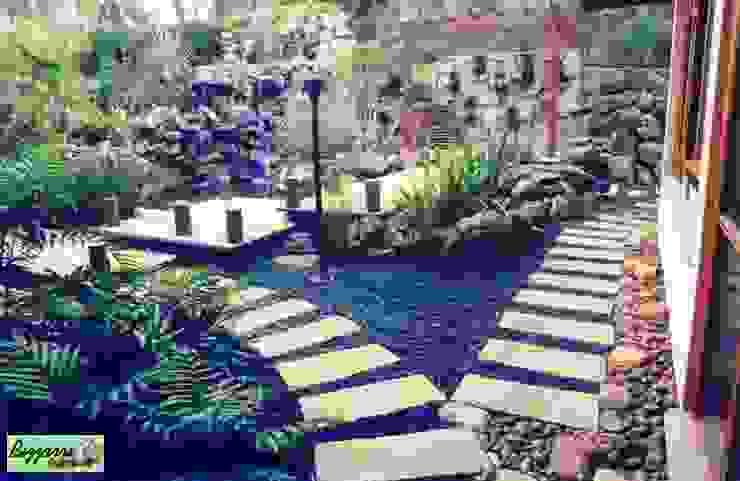 Jardines rústicos de Bizzarri Pedras Rústico Piedra