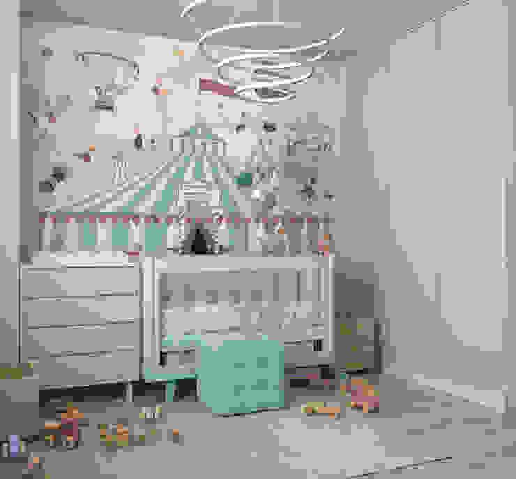 غرفة الاطفال تنفيذ дизайн-студия ПРОСТРАНСТВО ДИЗАЙНА