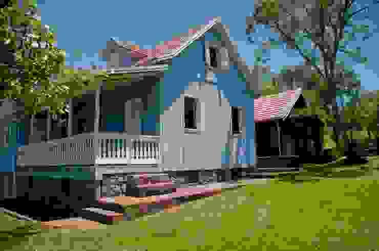 Fazenda Muitos Capões - Ampliação Casas rústicas por CABRAL Arquitetos Rústico Madeira maciça Multi colorido
