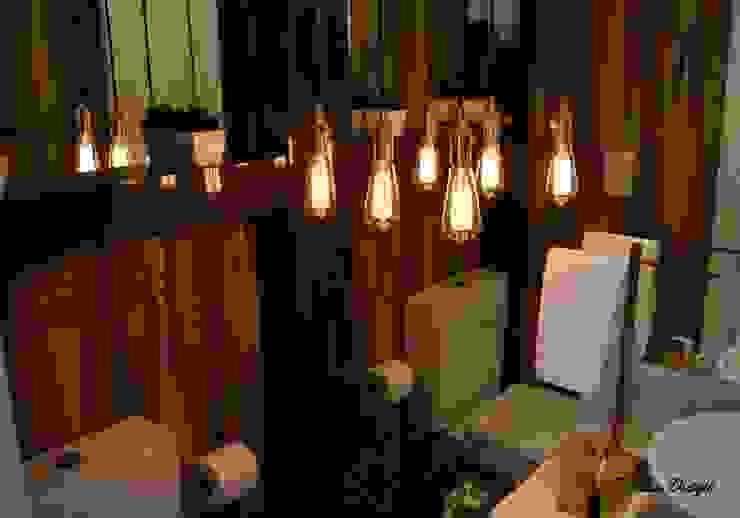 Um Lavabo Impactante DecaZa Design BathroomLighting MDF Brown