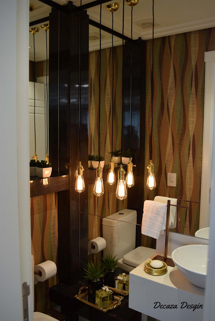 Um Lavabo Impactante DecaZa Design BathroomDecoration MDF Brown