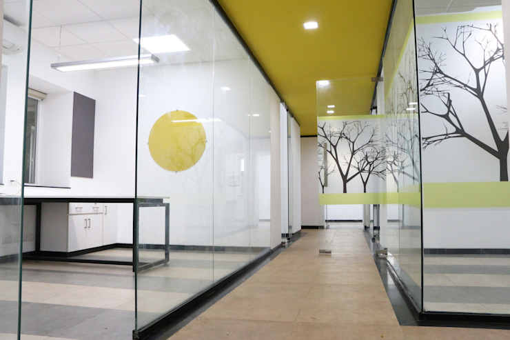 office interiors Modern office buildings by Myspace Architects Modern
