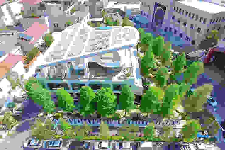 一樓右側琴鍵大道 根據 植建築 鉅凱建築師事務所/原果室內創研設計 現代風