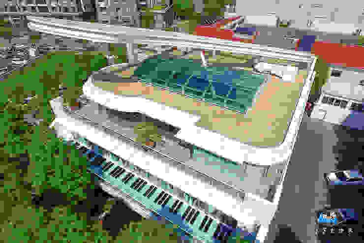 二樓琴鍵平台: 現代  by 植建築 鉅凱建築師事務所/原果室內創研設計, 現代風