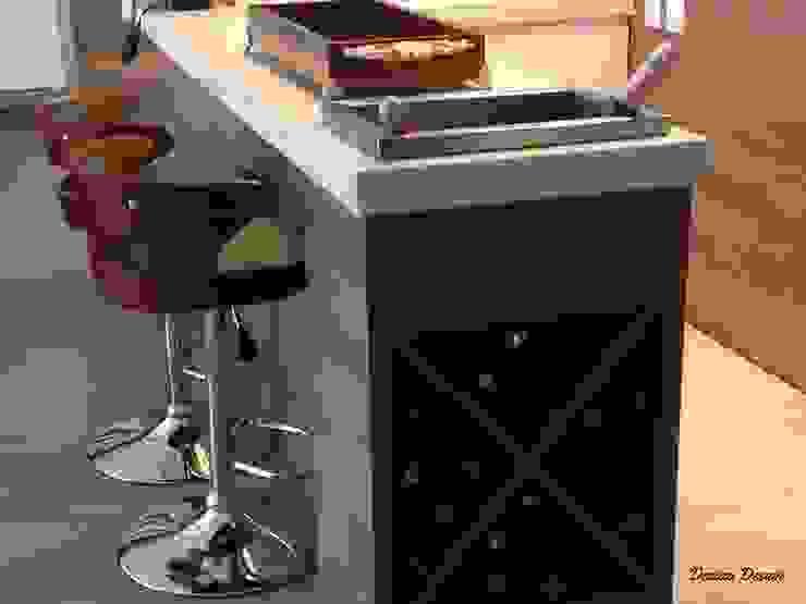 Contemporaneidade e Integração de Espaços na Sala de Estar DecaZa Design Living roomFireplaces & accessories