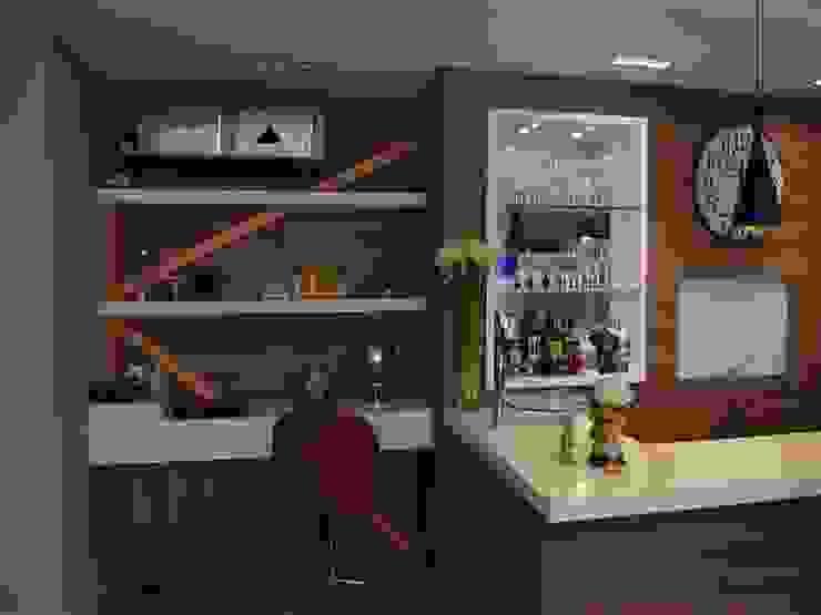Contemporaneidade e Integração de Espaços na Sala de Estar DecaZa Design Office spaces & stores