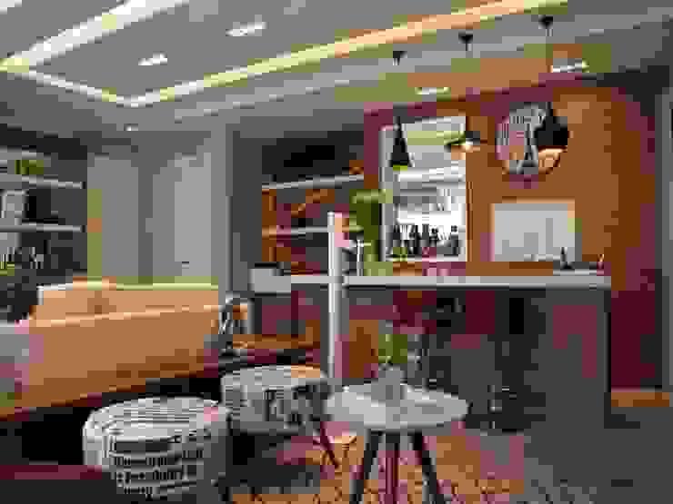Contemporaneidade e Integração de Espaços na Sala de Estar DecaZa Design Living roomSide tables & trays