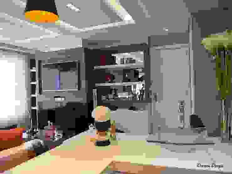 Contemporaneidade e Integração de Espaços na Sala de Estar DecaZa Design Living roomTV stands & cabinets