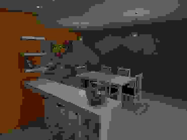 Cocina - Comedor Cocinas de estilo ecléctico de Gastón Blanco Arquitecto Ecléctico