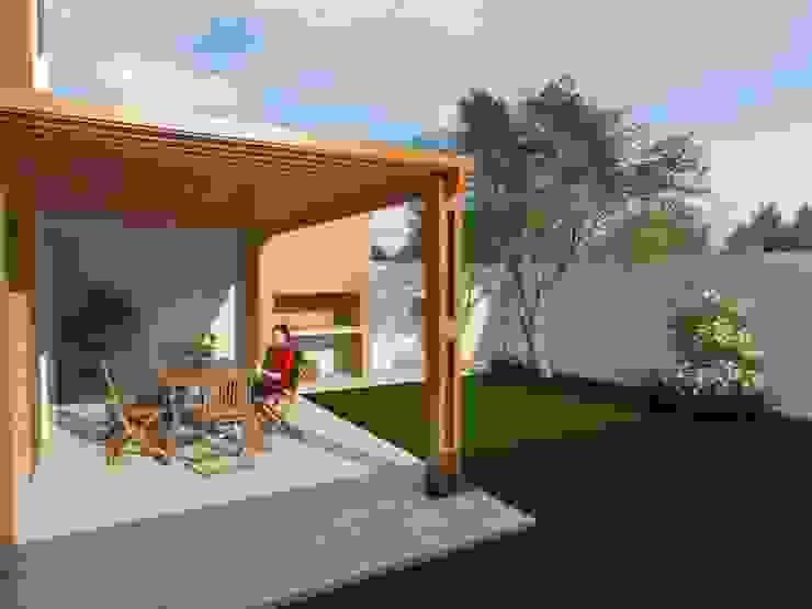 Pérgola Exterior Casas de estilo ecléctico de Gastón Blanco Arquitecto Ecléctico