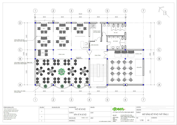 Mặt bằng tầng 2: cổ điển  by Công ty TNHH Thiết kế và Ứng dụng QBEST, Kinh điển