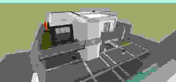 Vista aérea MARATEA estudio Casas de estilo minimalista Concreto